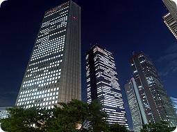 西新宿高層ビル街の夜景